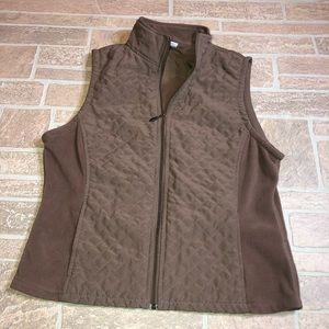Columbia Small Brown Quilted Vest zip up